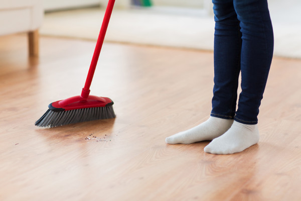 house cleaning floors