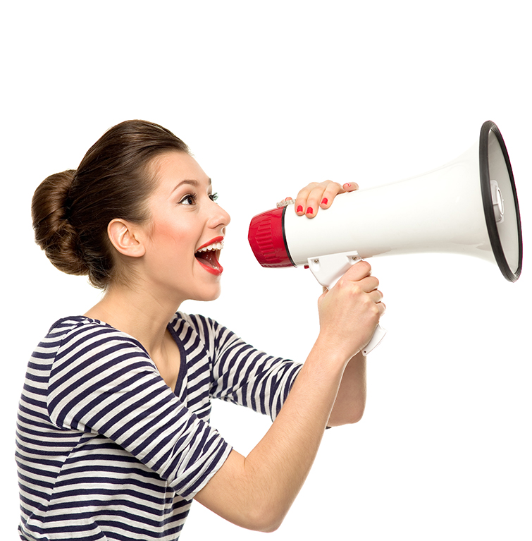 Communicating megaphone